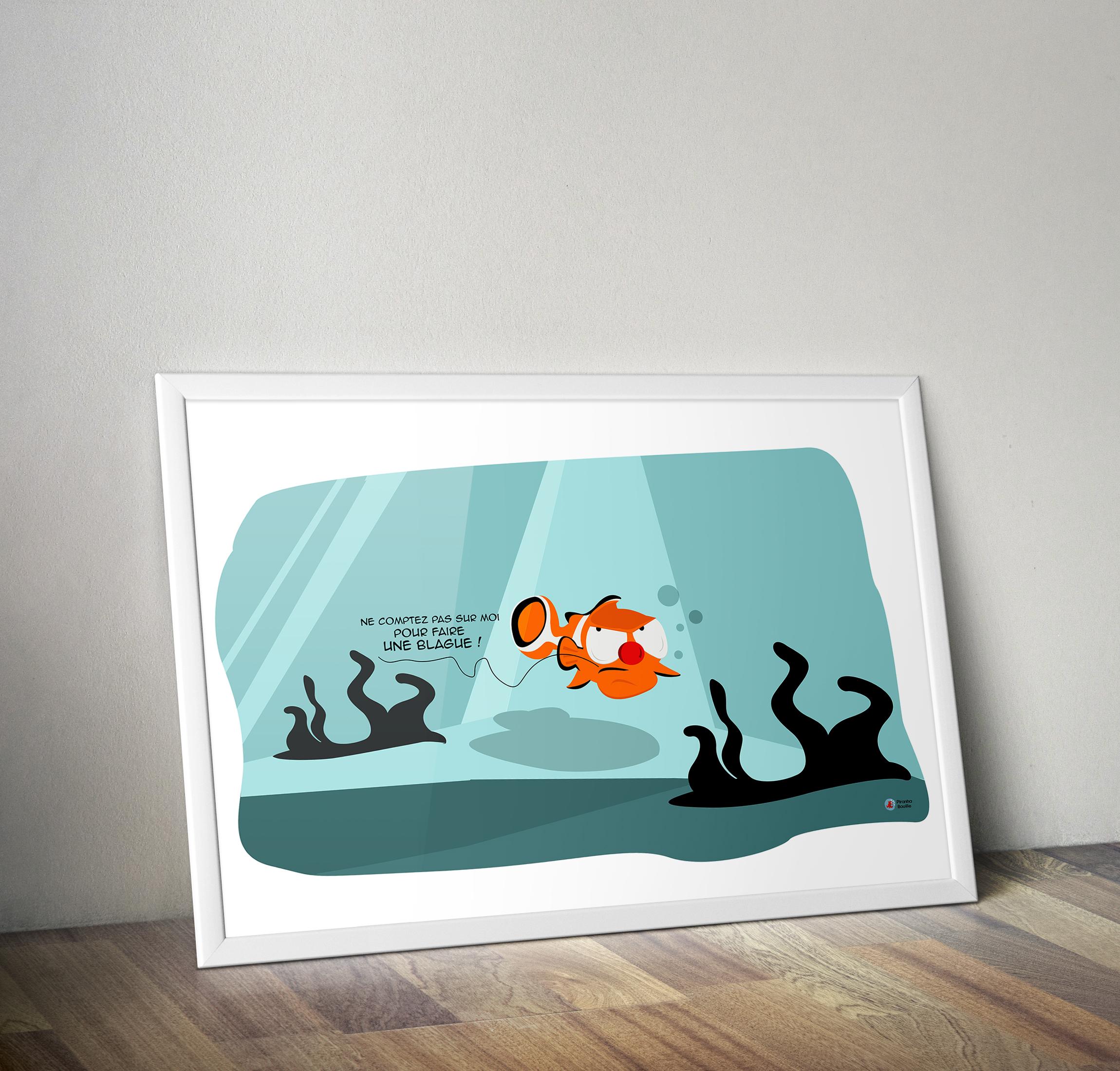 Tirage d'art Illustré par Piranha Bouille