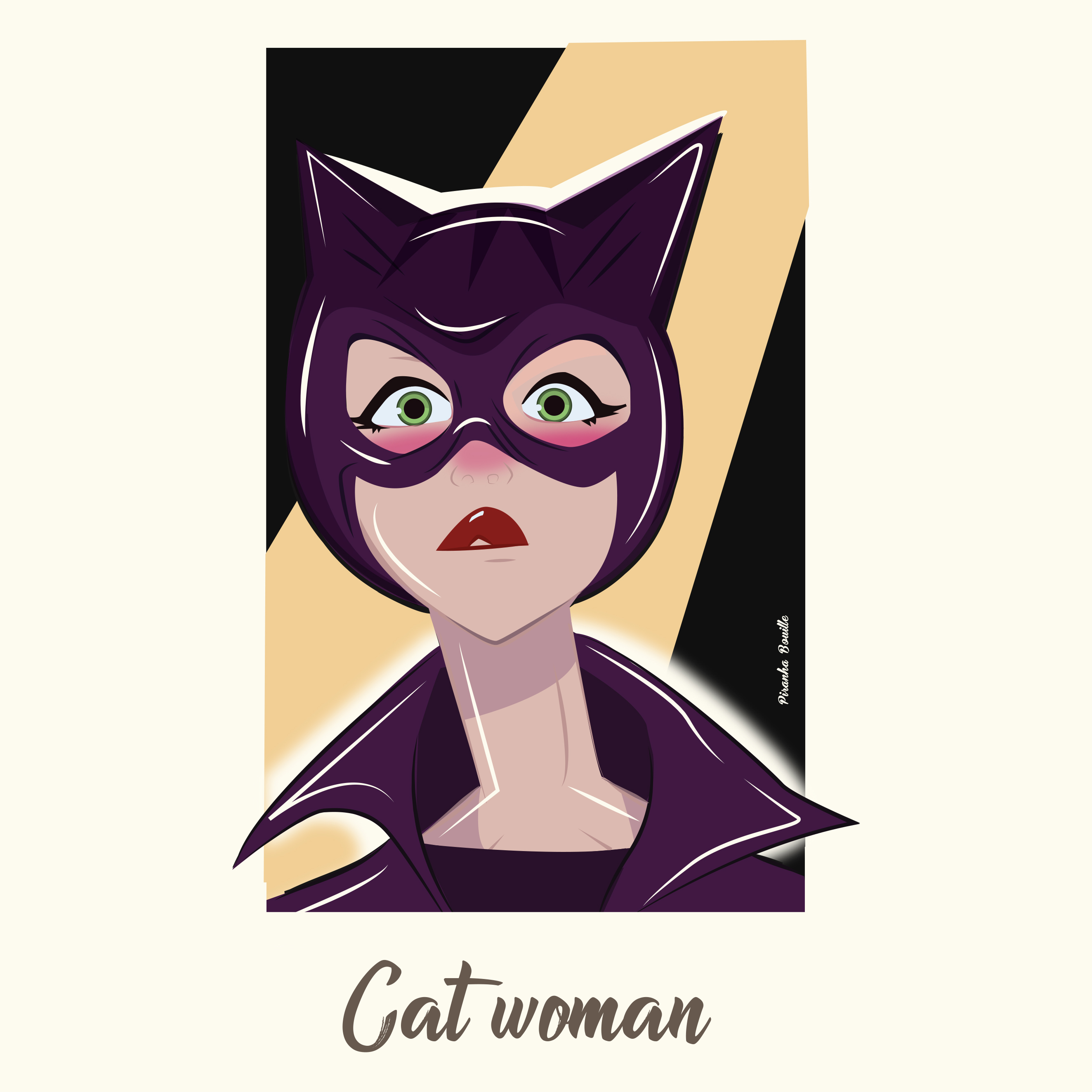 Fan art illustré de Catwoman