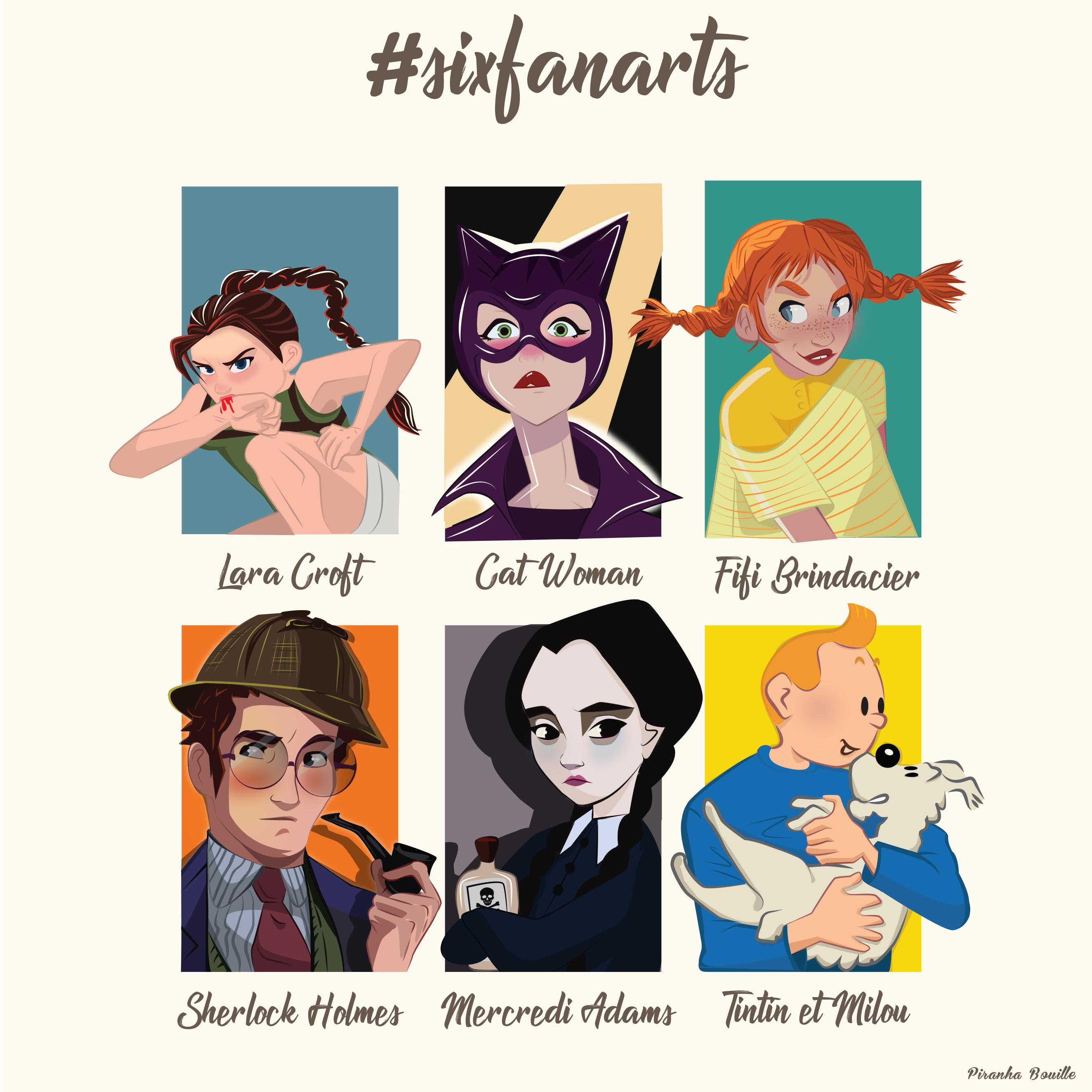 Illustration de personnages de dessins animés